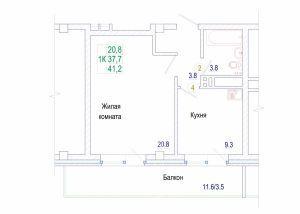 1к квартира Норильская улица, 3Ж | 11000 | аренда в Красноярске фото 5