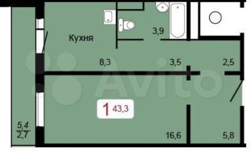 1к квартира улица Елены Стасовой, 38 | 11000 | аренда в Красноярске фото 2