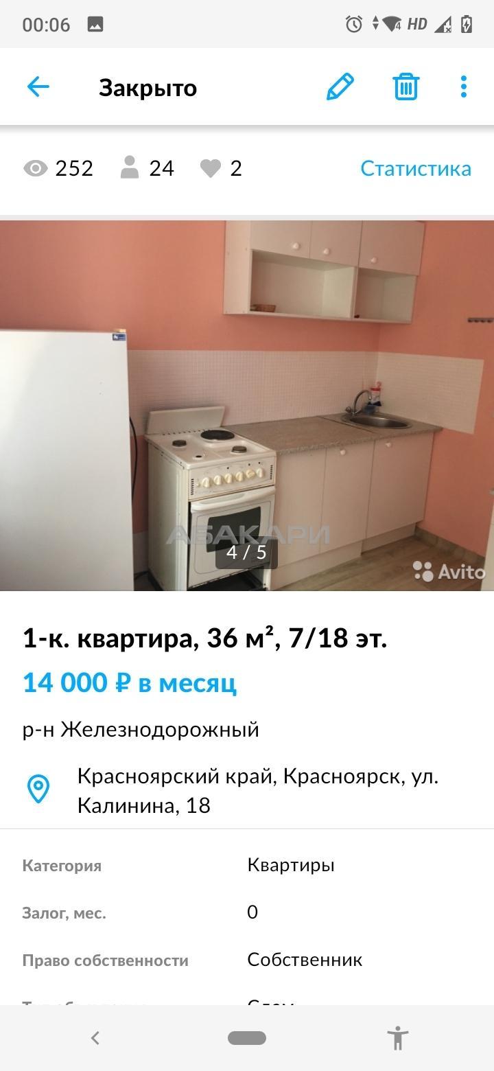 1к квартира улица Комбайностроителей, 8-а | 14000 | аренда в Красноярске фото 1