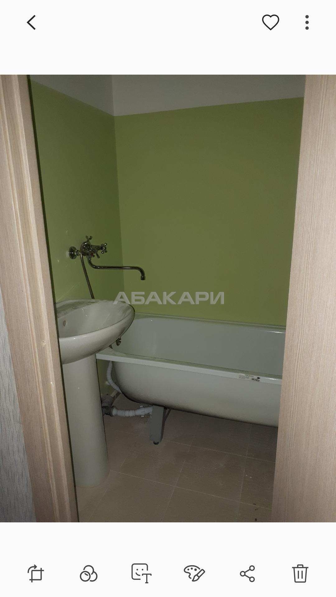 1к квартира Ольховая улица, 4 11/15 - 42кв | 13000 | аренда в Красноярске фото 6