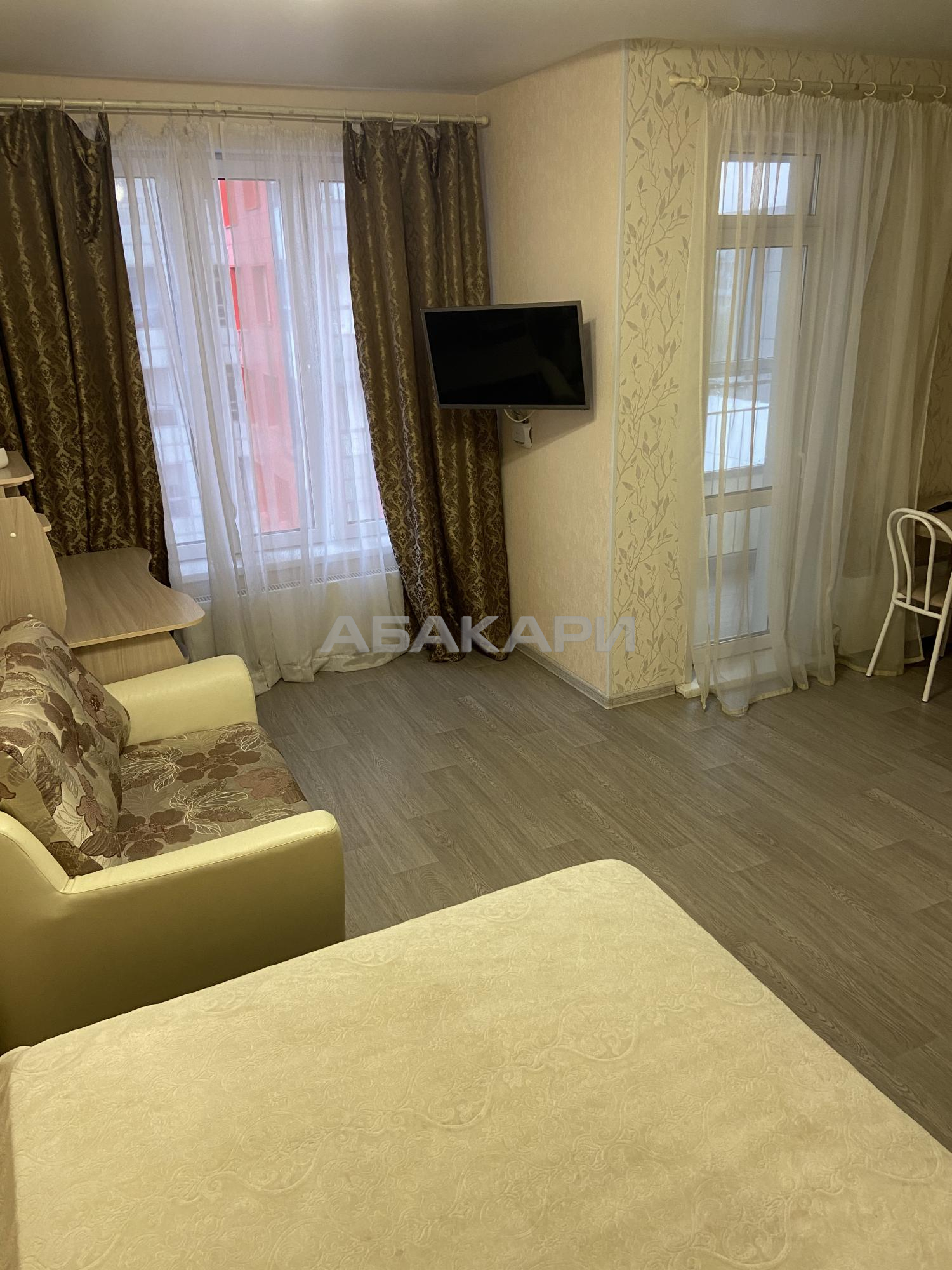 1к квартира улица Алексеева, 46 6/24 - 40кв | 24000 | аренда в Красноярске фото 1