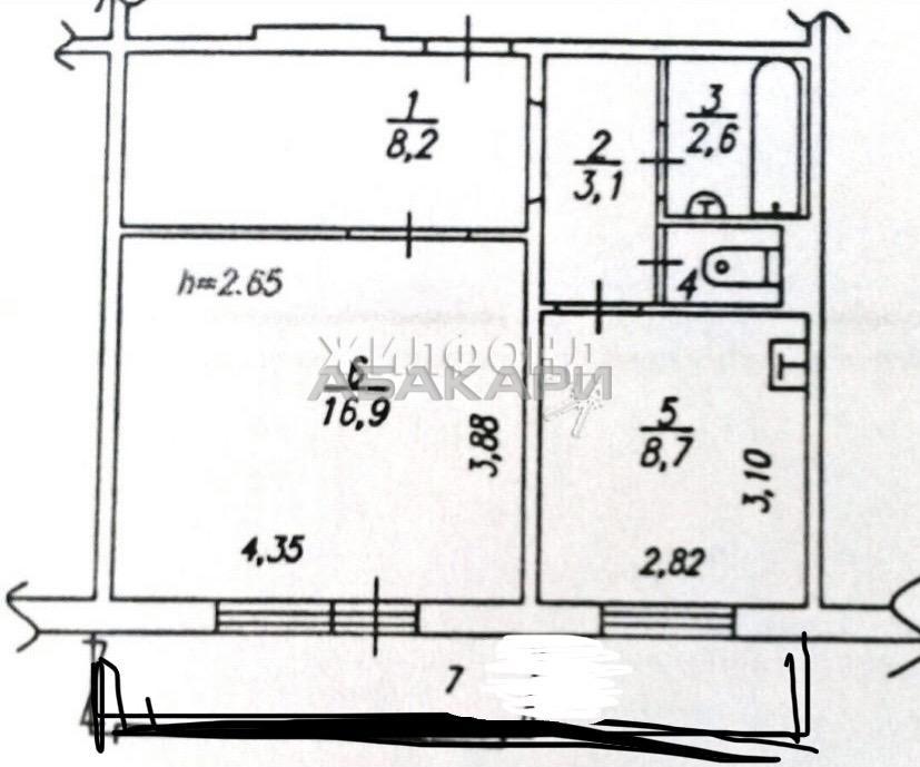 1к квартира улица Академика Киренского 6/16 - 41кв   20000   аренда в Красноярске фото 7