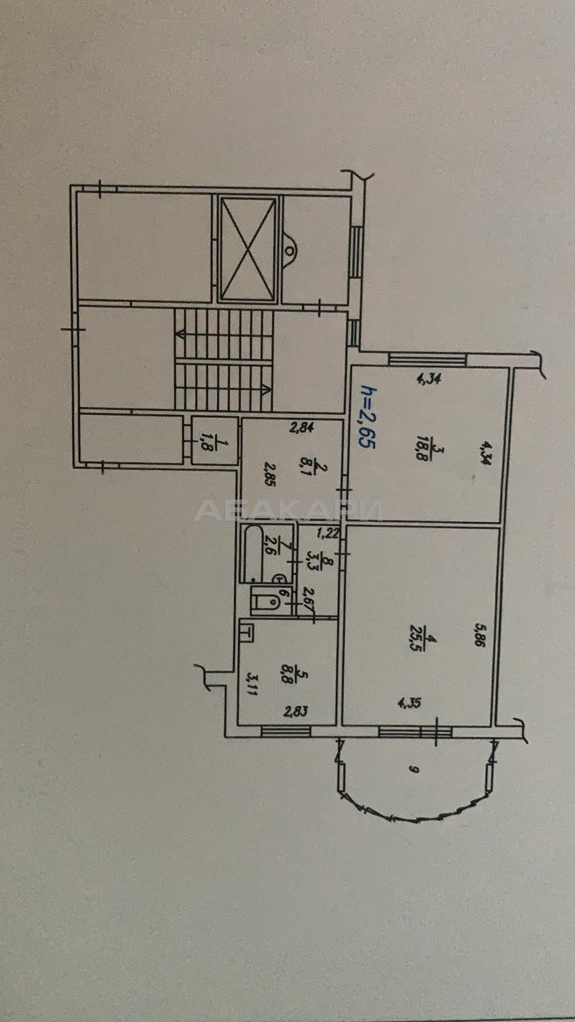 2к квартира улица Шумяцкого, 11 5/10 - 70кв | 30000 | аренда в Красноярске фото 9