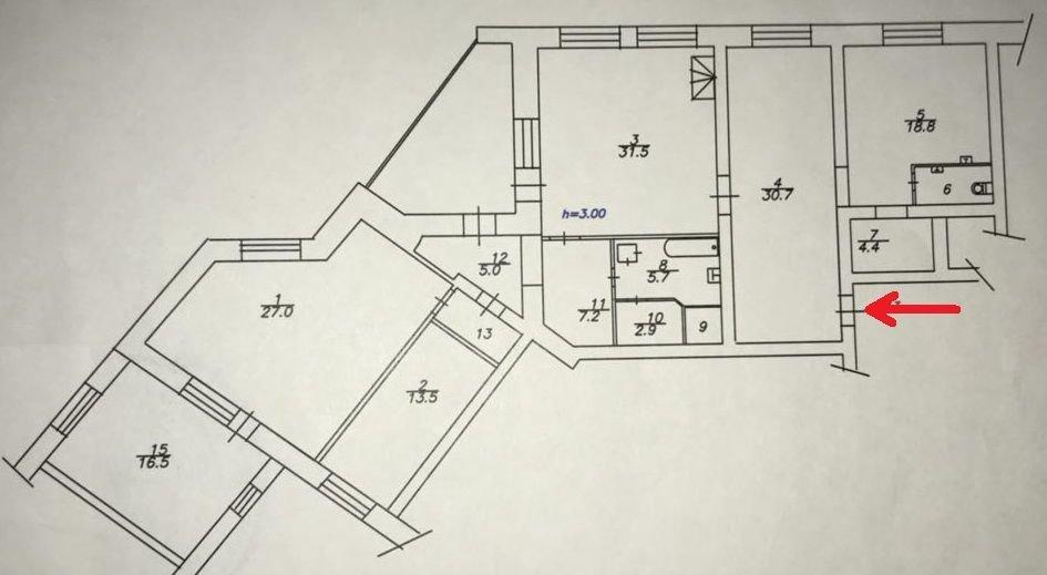 4к квартира Свободный пр-т, 64Ж   35000   аренда в Красноярске фото 18