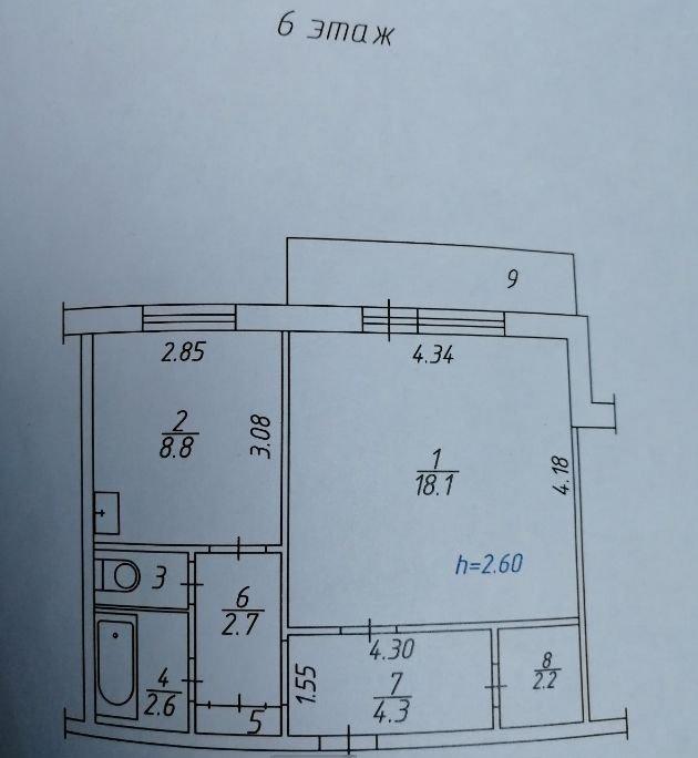 1к квартира ул. 9 Мая, 56 | 11000 | аренда в Красноярске фото 1