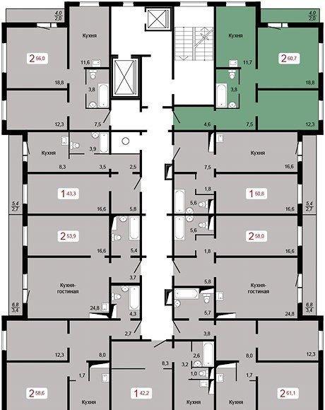 2к квартира ул. Елены Стасовой, 50Г | 17500 | аренда в Красноярске фото 11