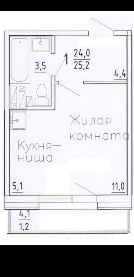 студия Караульная ул., 46 | 14000 | аренда в Красноярске фото 2
