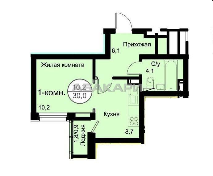 студия ул. Алексеева, 46 | 19000 | аренда в Красноярске фото 2