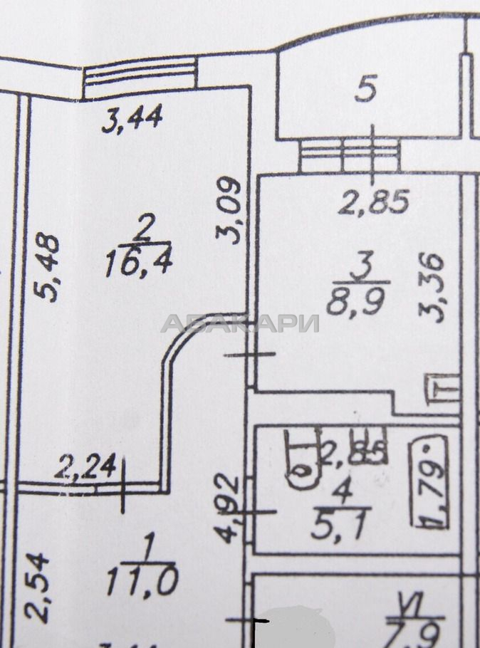 1к квартира микрорайон Северный, ул. Мате Залки, 37   25000   аренда в Красноярске фото 11