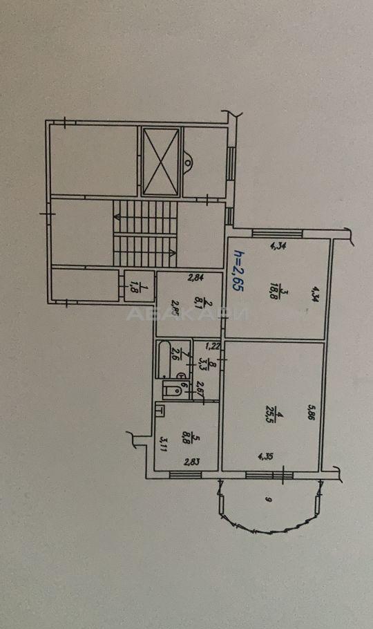 2к квартира микрорайон Северный, ул. Шумяцкого, 11 5/10 - 70кв   30000   аренда в Красноярске фото 9