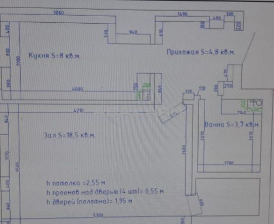 1к квартира ул. 9 Мая, 65 9/10 - 38кв   27000   аренда в Красноярске фото 7